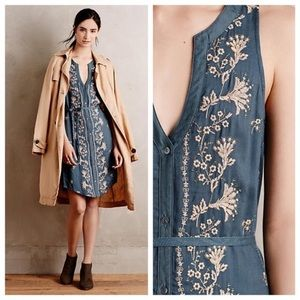 Tiny Anthropologie M Embroidered Syden Shirtdress